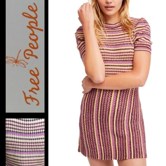 Free People Dresses & Skirts - Free People  Into You Mini Knit Dress